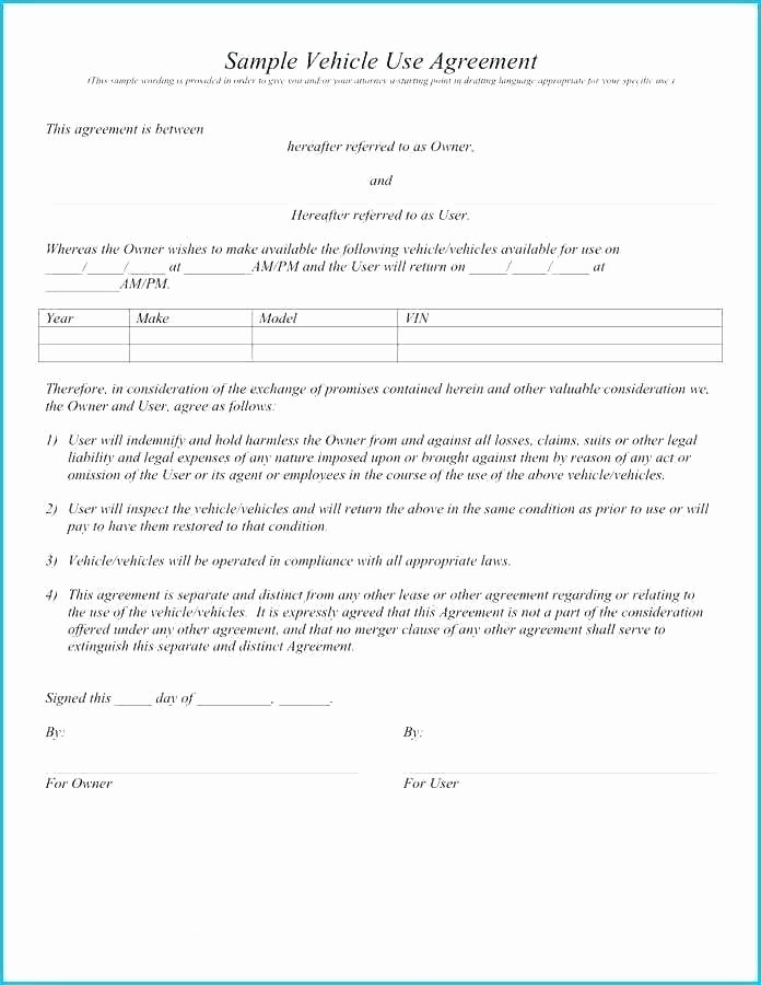 Used Car Sales Agreement Template Lovely Used Car Agreement Template – Stumber