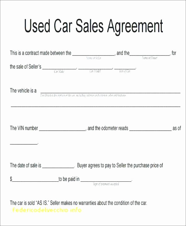 Used Car Sales Agreement Template Luxury Used Car Sale Template Popular Dedafdcfdecf
