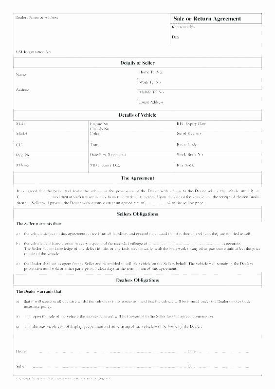 Used Car Sales Agreement Template New Used Vehicle Sales Agreement Template