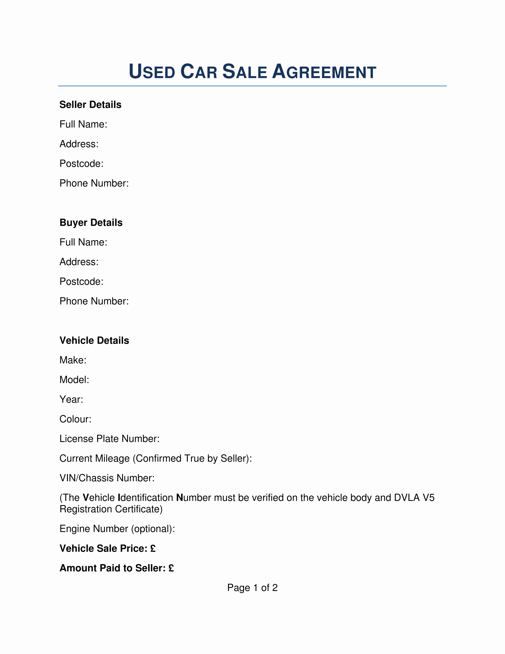 Used Car Sales Agreement Template Unique Free 22 Sales Agreement Samples In Pdf