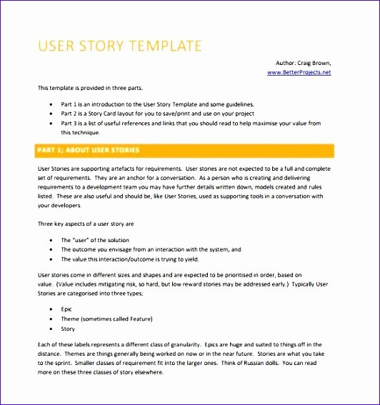 User Story Template Excel Best Of 6 Free Excel Templates Project Management Exceltemplates