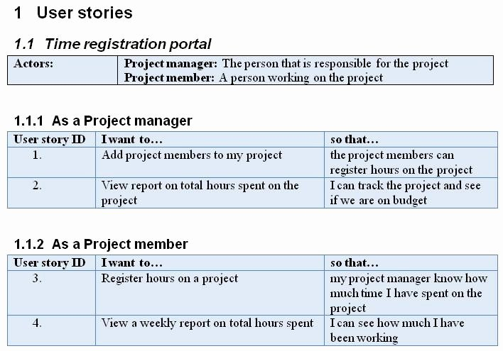 User Story Template Excel Elegant Writing User Stories for Agile Scrum Projects Revisited