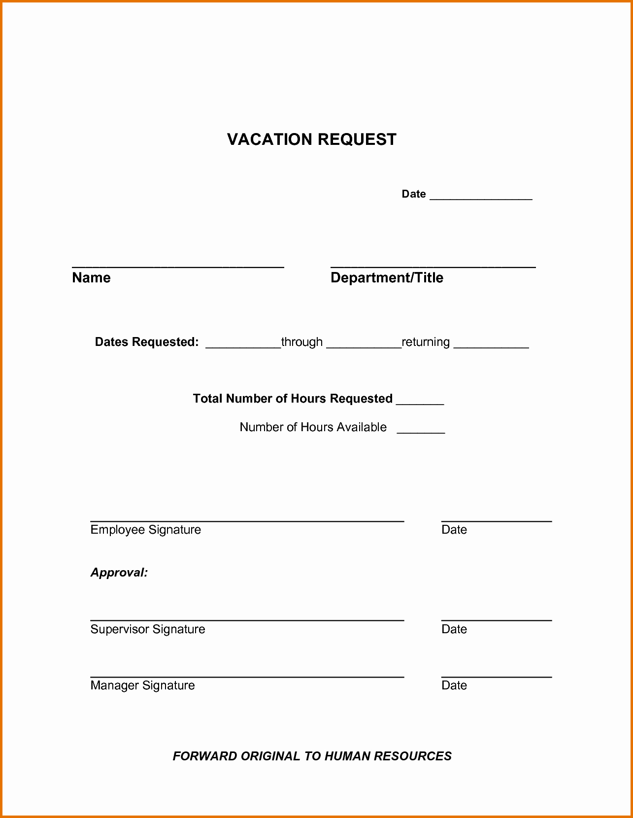 Vacation Request form Template New Vacation Request form Template – Teplates for Every Day