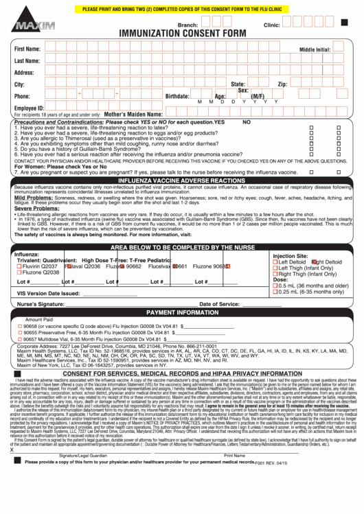 Vaccine Consent form Template Beautiful Fillable Immunization Consent form Printable Pdf