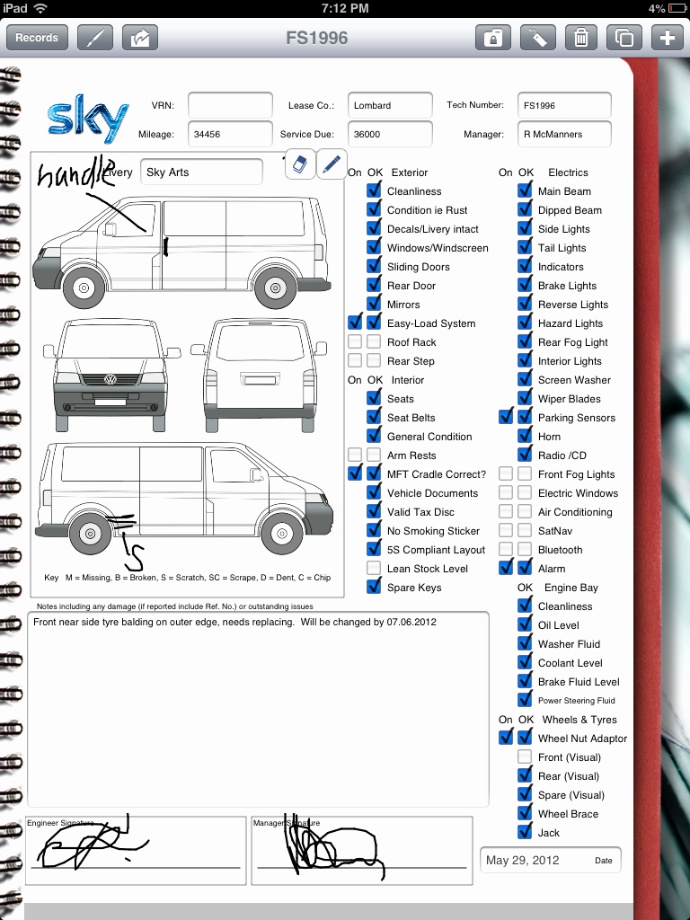 Vehicle Inspection Checklist Template Fresh Car Rental Pany Uses Ipad for Vehicle Inspection
