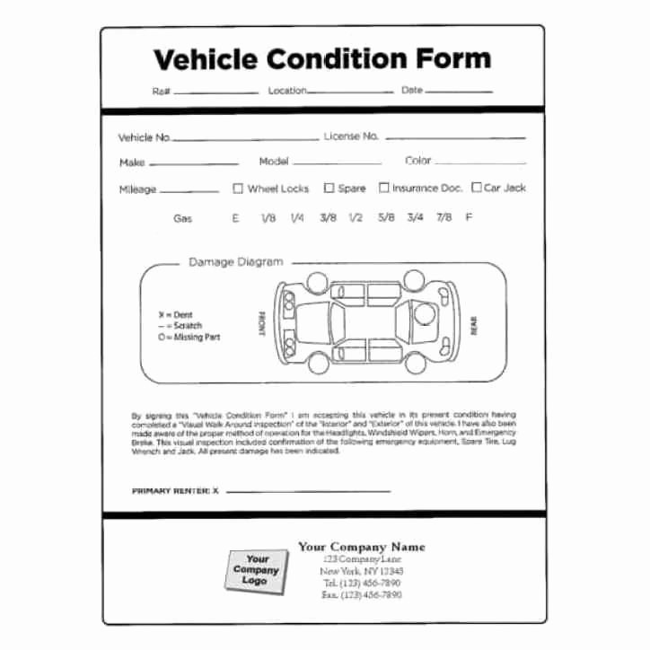 Vehicle Inspection forms Templates Fresh Vehicle Condition Report Templates Word Excel Samples