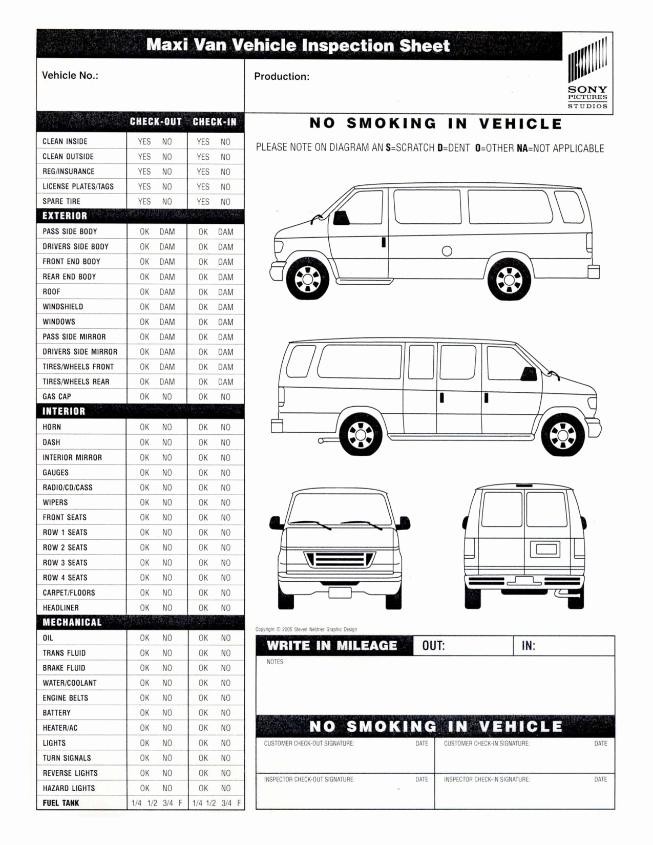 Vehicle Inspection forms Templates Fresh Vehicle Inspection Sheet Template
