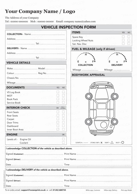 Vehicle Inspection forms Templates Lovely Vehicle Inspection Sheet Template Vehicle Inspection Poc