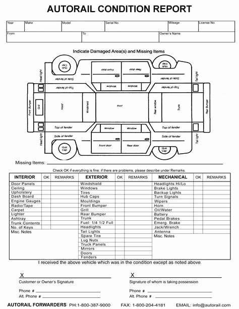 Vehicle Inspection forms Templates Luxury Image Result for Vehicle Damage Inspection form Template