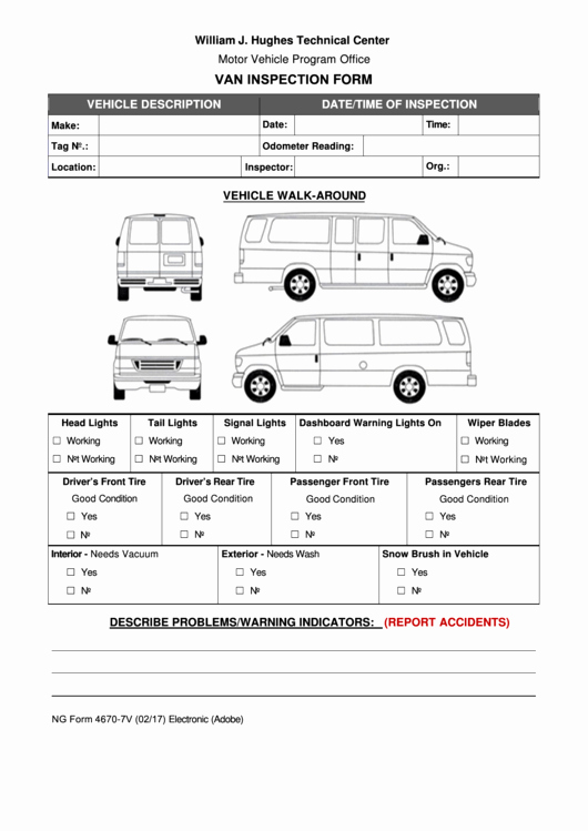 Vehicle Inspection Sheet Template Fresh 48 Vehicle Inspection form Templates Free to In Pdf