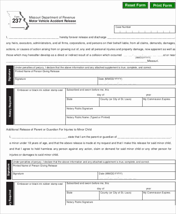 Vehicle Release form Template Fresh Sample Vehicle Release form 9 Examples In Word Pdf