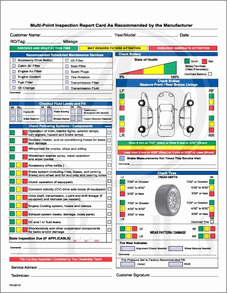Vehicle Safety Inspection Checklist Template Awesome by Bimmy Payne