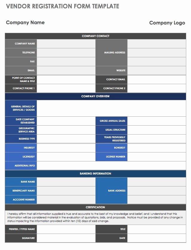 Vendor Application form Template Best Of 13 Free Vendor Templates