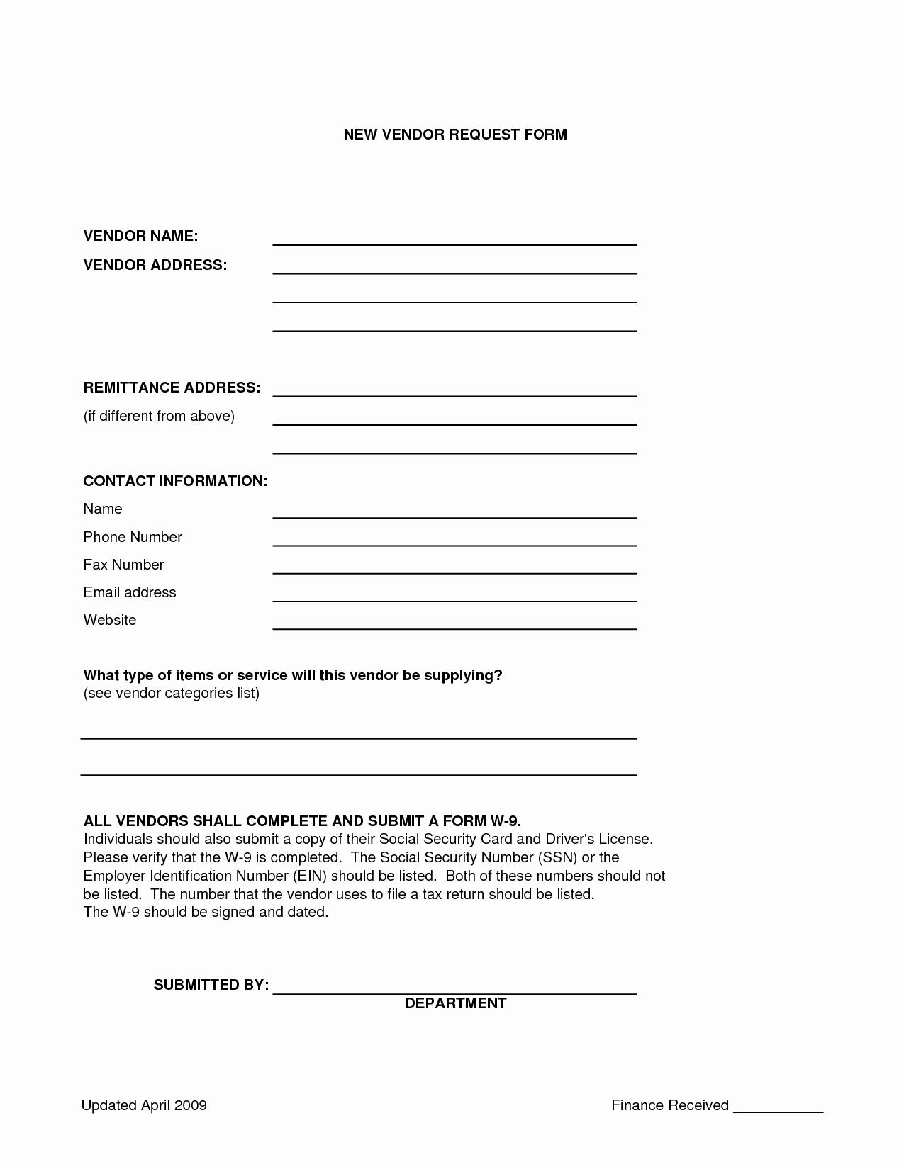 Vendor Application form Template Best Of Home [ ]