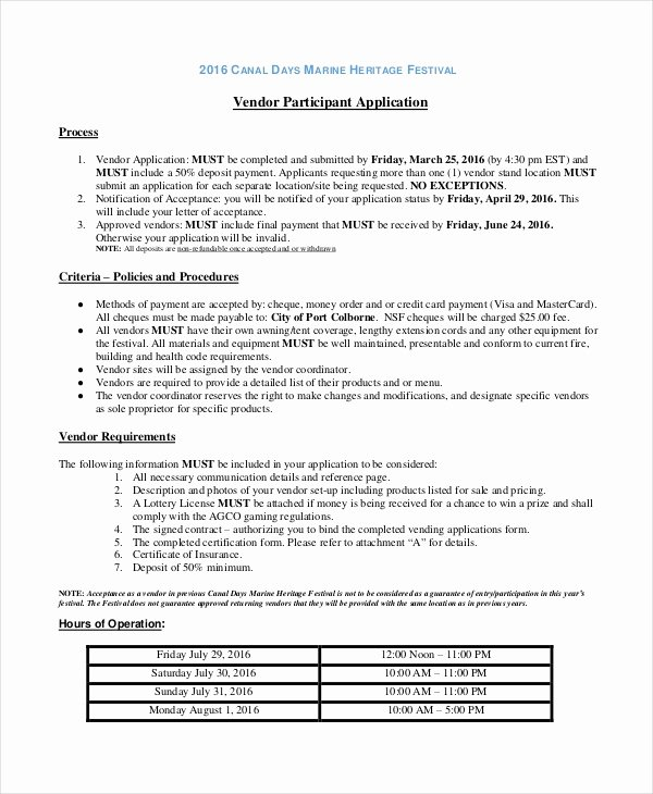 Vendor Application form Template Luxury Application Template 10 Free Word Pdf Documents