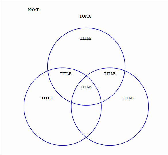 Venn Diagram Template Word Beautiful Triple Venn Diagram Templates 9 Free Word Pdf format