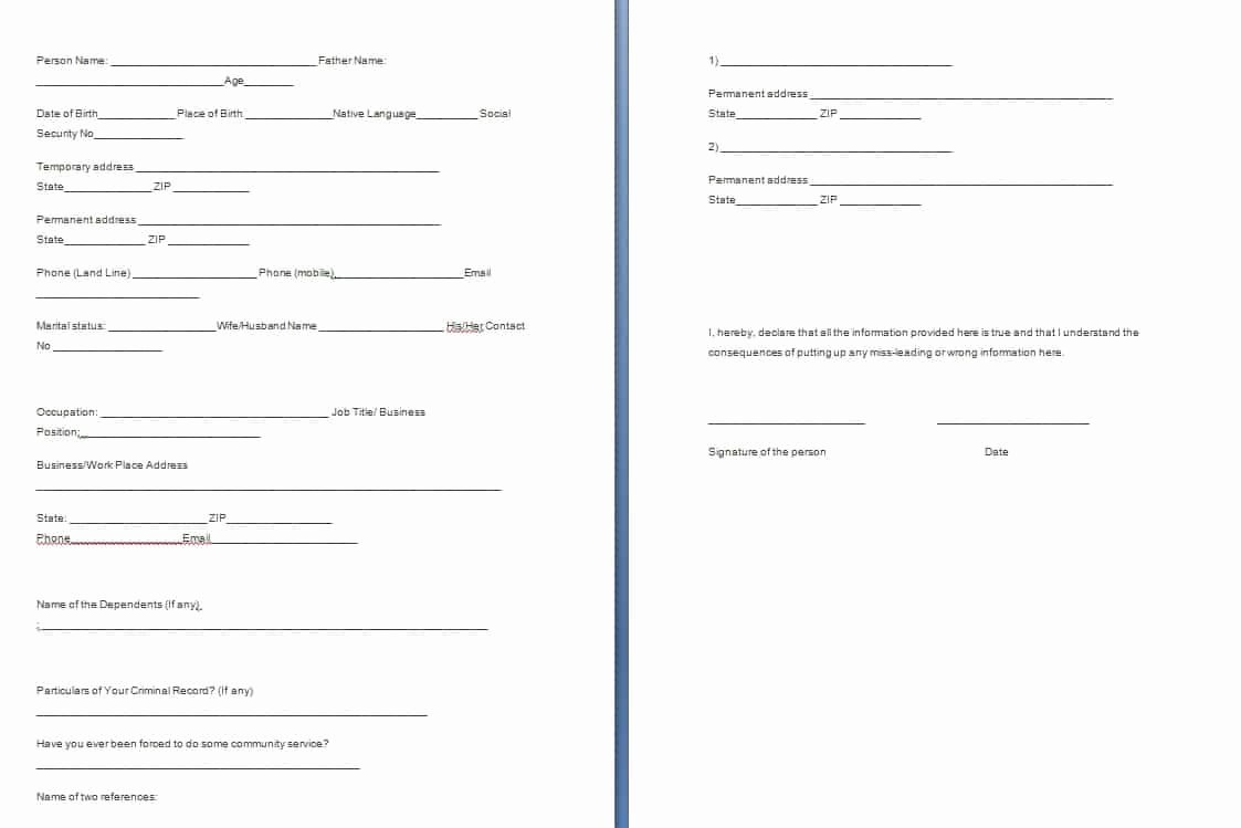 Verification Of Employment form Template Elegant Verification forms Template Free formats Excel Word