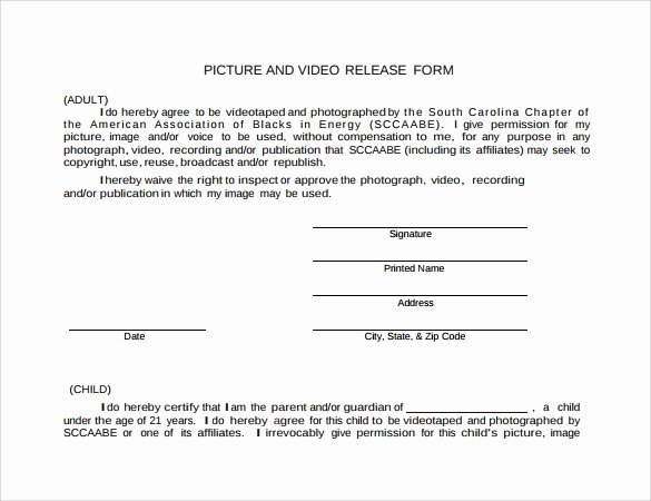 Video Release forms Template New Sample Video Release form 8 Free Documents In Pdf Word