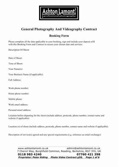 Videography Contract Template Free Elegant Free 9 Videography Contract Samples In Pdf