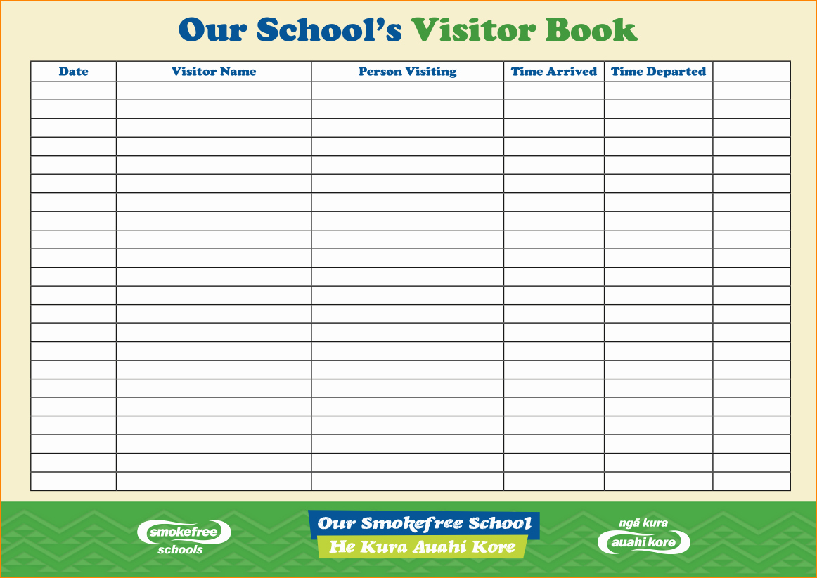 Visitor Log Book Template Best Of 6 Visitor Log Book