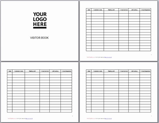 Visitor Log Book Template Best Of Visitor Book