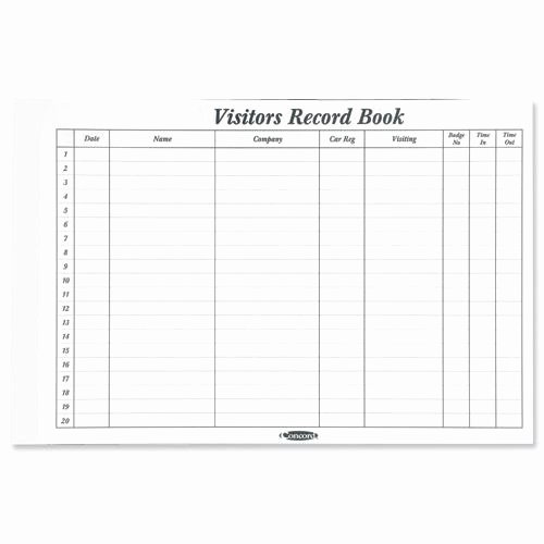 Visitor Log Book Template Inspirational Buy Concord Cd14p White 50 Sheet Refill for Visitors Book