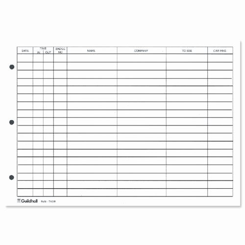 Visitor Log Book Template Luxury Guildhall Refill for Loose Leaf Visitors Book 50 Sheets A4