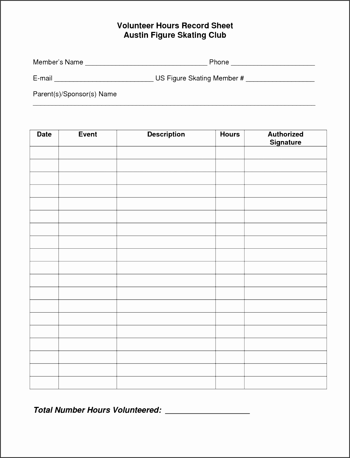 Volunteer Hour forms Template Fresh 6 Daily Work Log Template for Personal Use