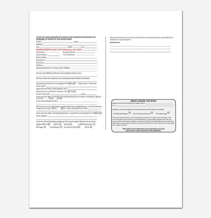 Volunteer Hour forms Template Fresh Volunteer Application Template 20 forms Doc & Pdf format