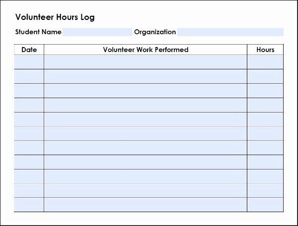 Volunteer Hour forms Template Inspirational Homeschool High School Volunteer Log Walking by the Way
