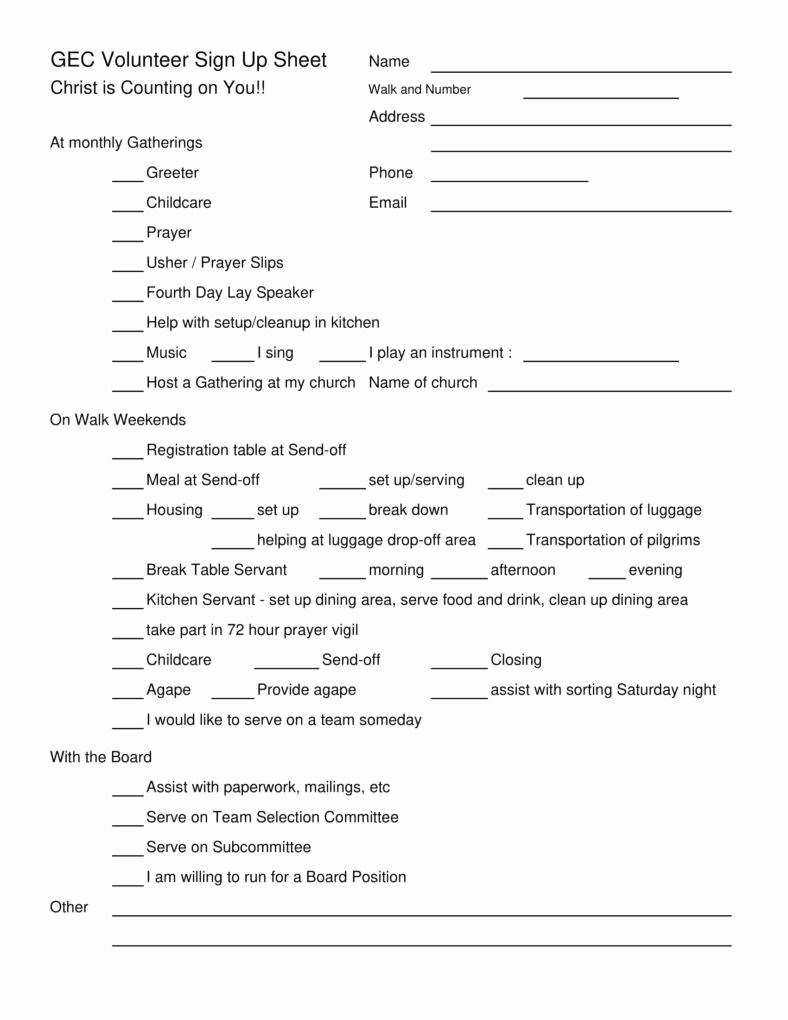 Volunteer Sign Up Sheet Template Beautiful 10 Volunteer Sign Up Sheet Templates Pdf