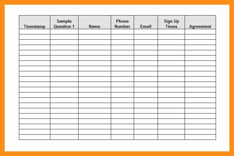 Volunteer Sign Up Sheet Template Beautiful 12 13 Volunteer Signup Sheet Template