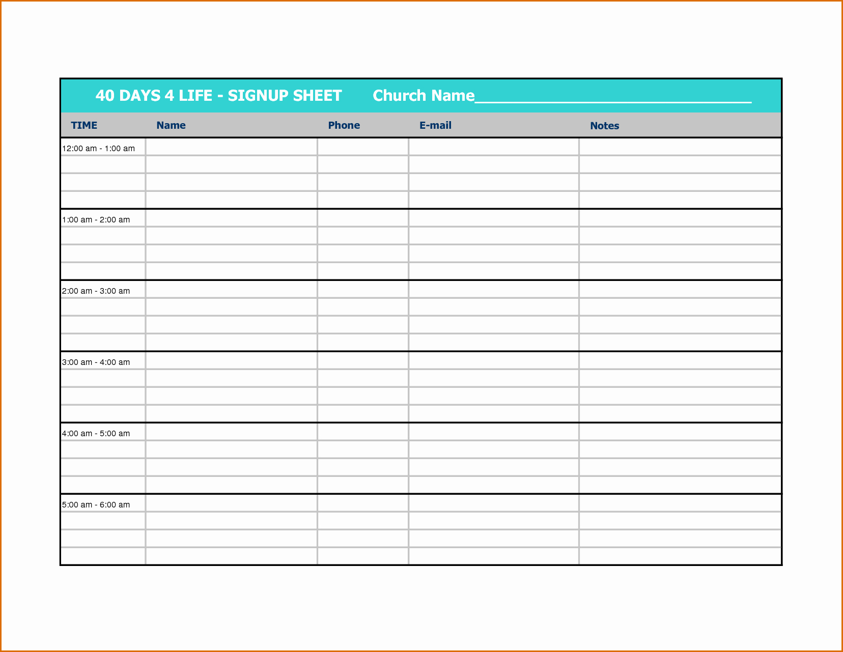 Volunteer Sign Up Sheet Template Inspirational 10 Volunteer Sign Up Sheet Template