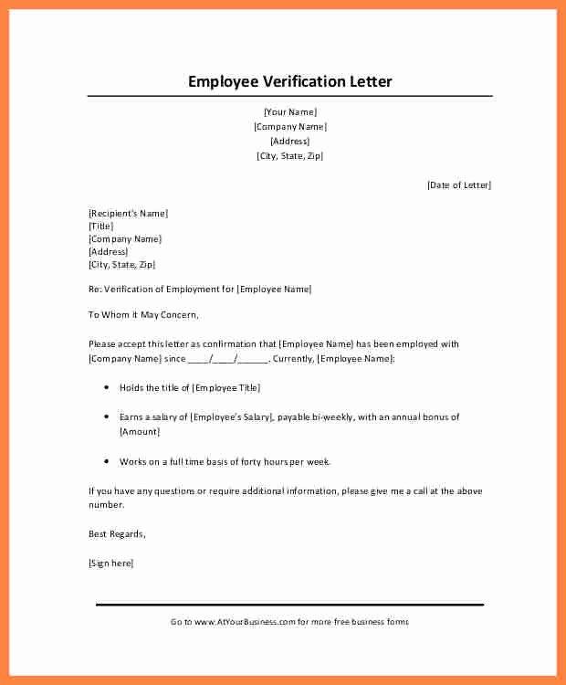 Wage Verification form Template Elegant 10 Employer Salary Verification Letter