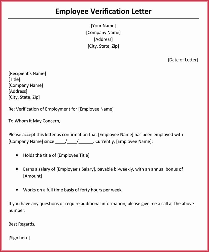 Wage Verification form Template Luxury In E Verification Letter 6 Samples & formats