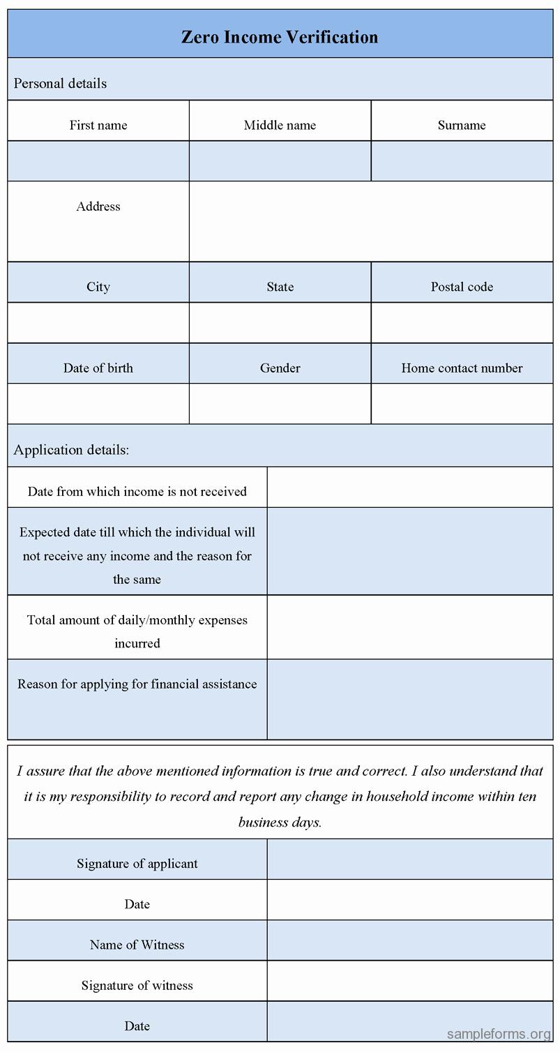 Wage Verification form Template Unique Zero In E Verification form Sample forms