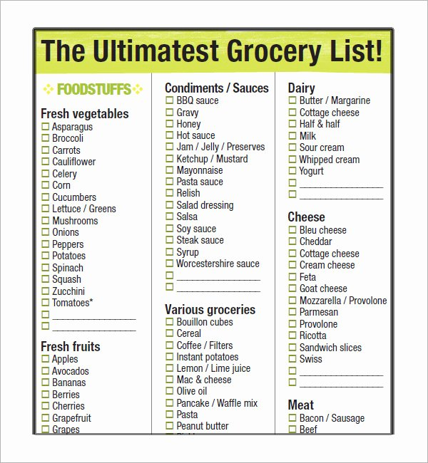 Walmart Grocery List Template Lovely List Printable Gallery Category Page 2 Printablee