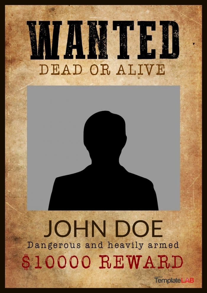 Wanted Poster Template Free Awesome 29 Free Wanted Poster Templates Fbi and Old West