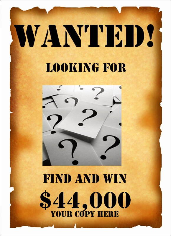 Wanted Poster Template Free Awesome Wanted Poster Template 20 Download Documents In Psd