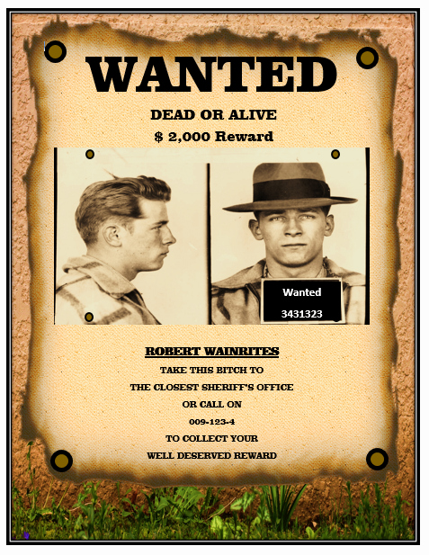 Wanted Poster Template Free Best Of Wanted Poster Templates