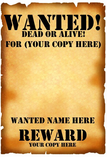 Wanted Poster Template Free Fresh 29 Free Wanted Poster Templates Fbi and Old West