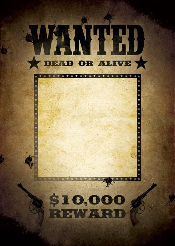 Wanted Poster Template Free Fresh Most Wanted Poster Template