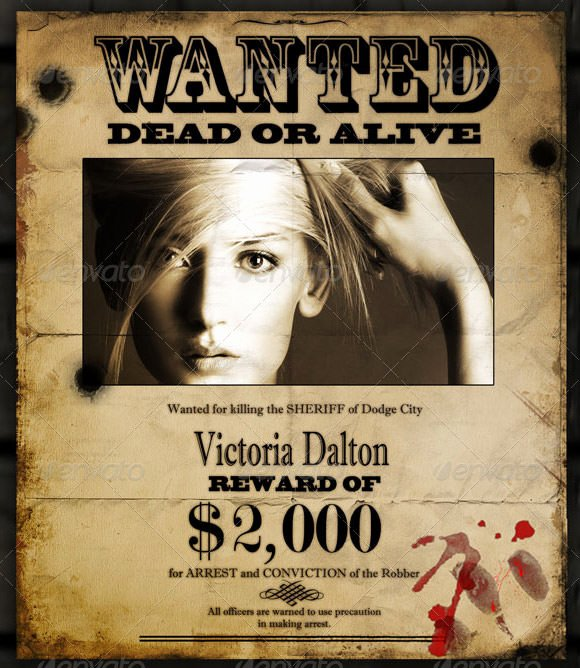 Wanted Poster Template Free Fresh Wanted Poster Template 20 Download Documents In Psd