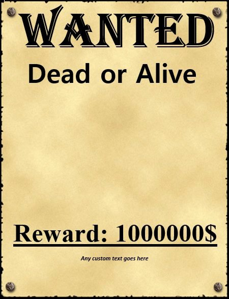 Wanted Poster Template Free Inspirational 18 Free Wanted Poster Templates Fbi and Old West Free