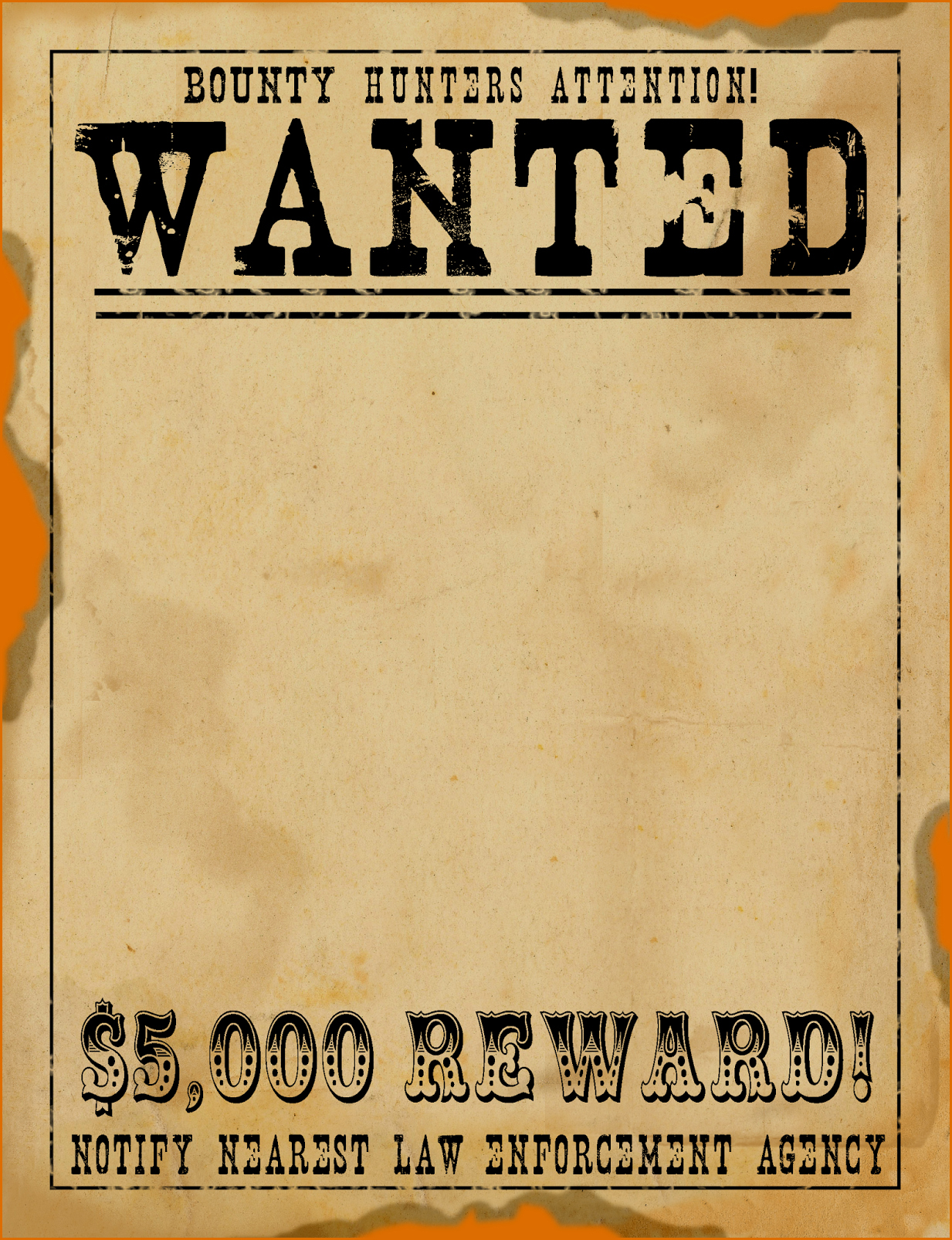Wanted Poster Template Free Lovely 5 Wanted Poster Templates