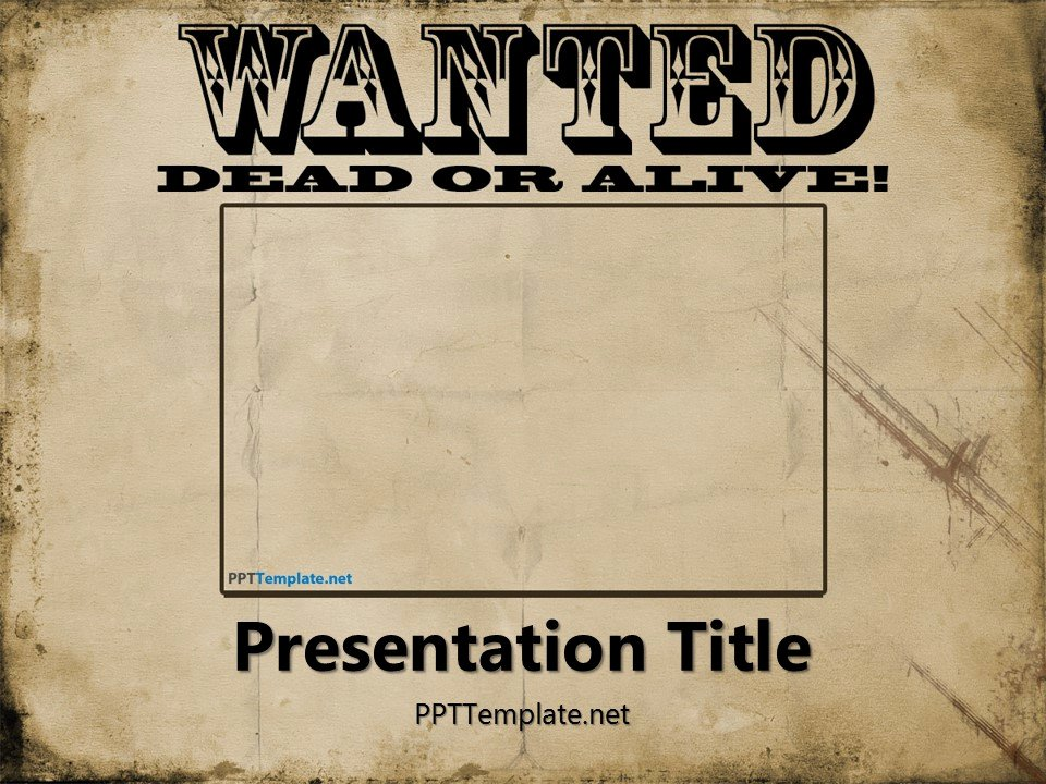 Wanted Poster Template Free Luxury Free Wanted Poster Template for Powerpoint
