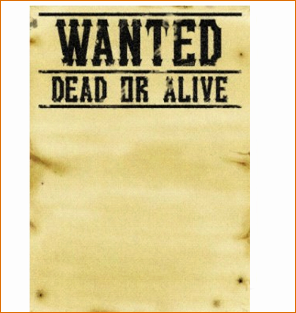 Wanted Poster Template Free Unique 6 Wanted Poster Template