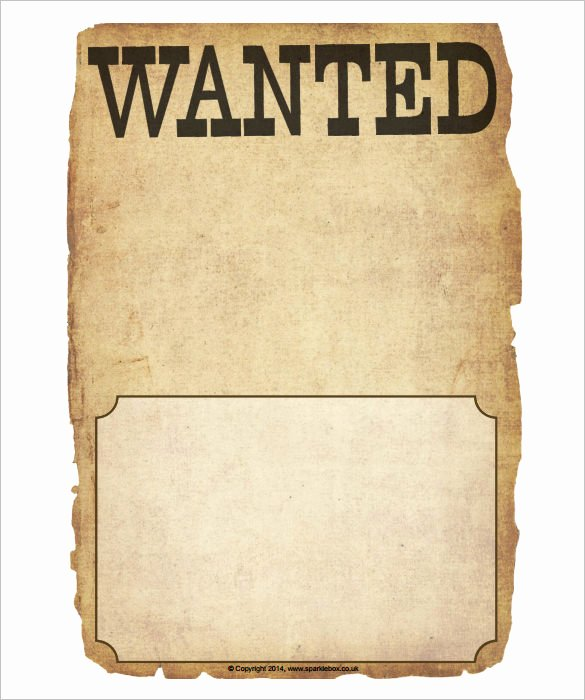 Wanted Poster Template Free Unique Wanted Poster Template 34 Free Printable Word Psd