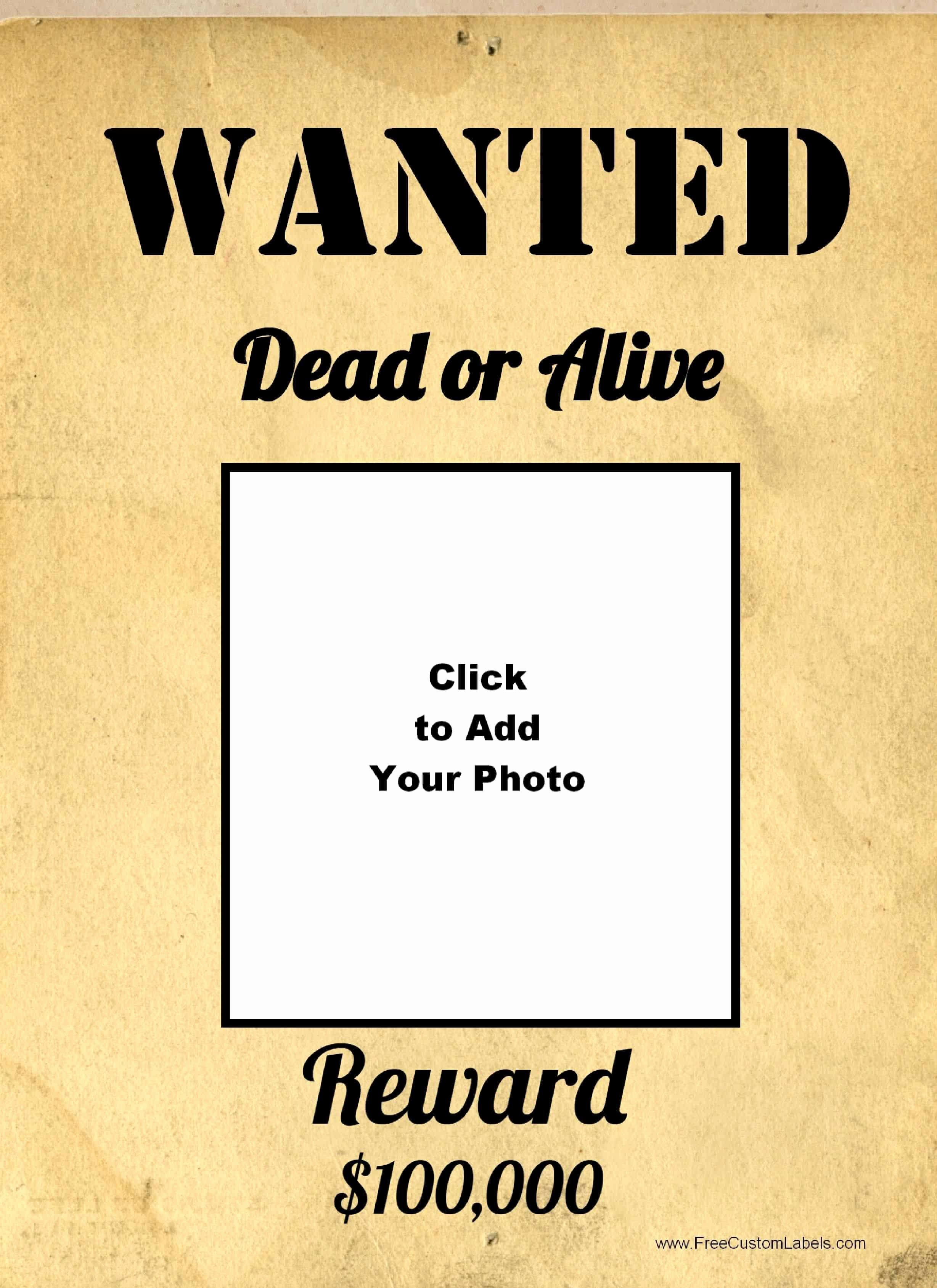 Wanted Poster Template Pdf Awesome Free Wanted Poster Maker
