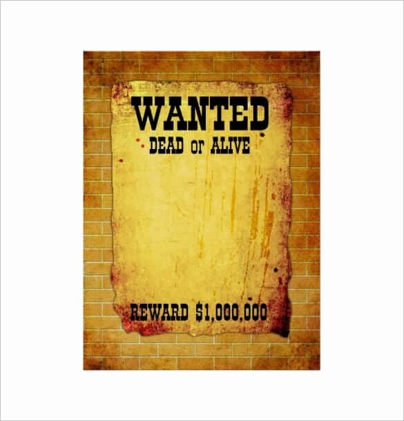 Wanted Poster Template Pdf Beautiful 16 Free & Premium Beautiful Design Wanted Poster Templates
